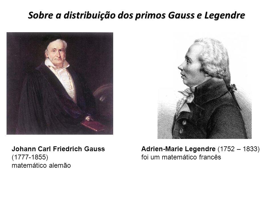 Sobre a distribuição dos primos Gauss e Legendre