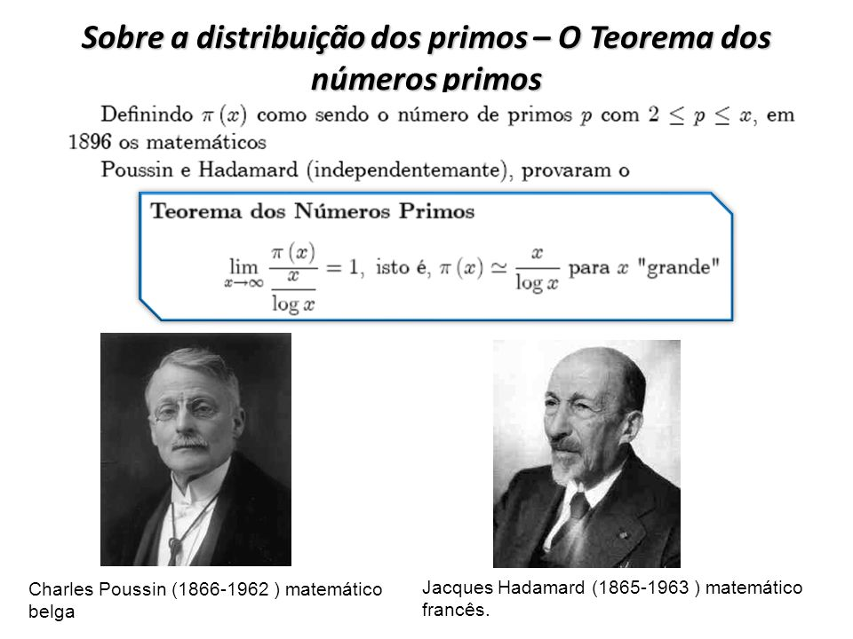 Sobre a distribuição dos primos – O Teorema dos números primos
