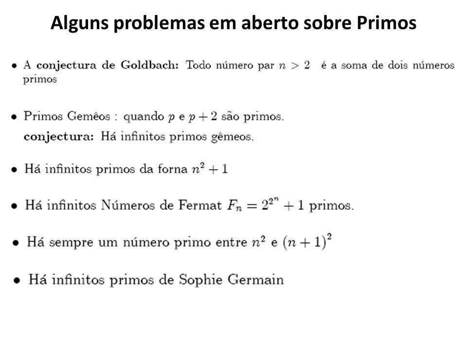 Alguns problemas em aberto sobre Primos