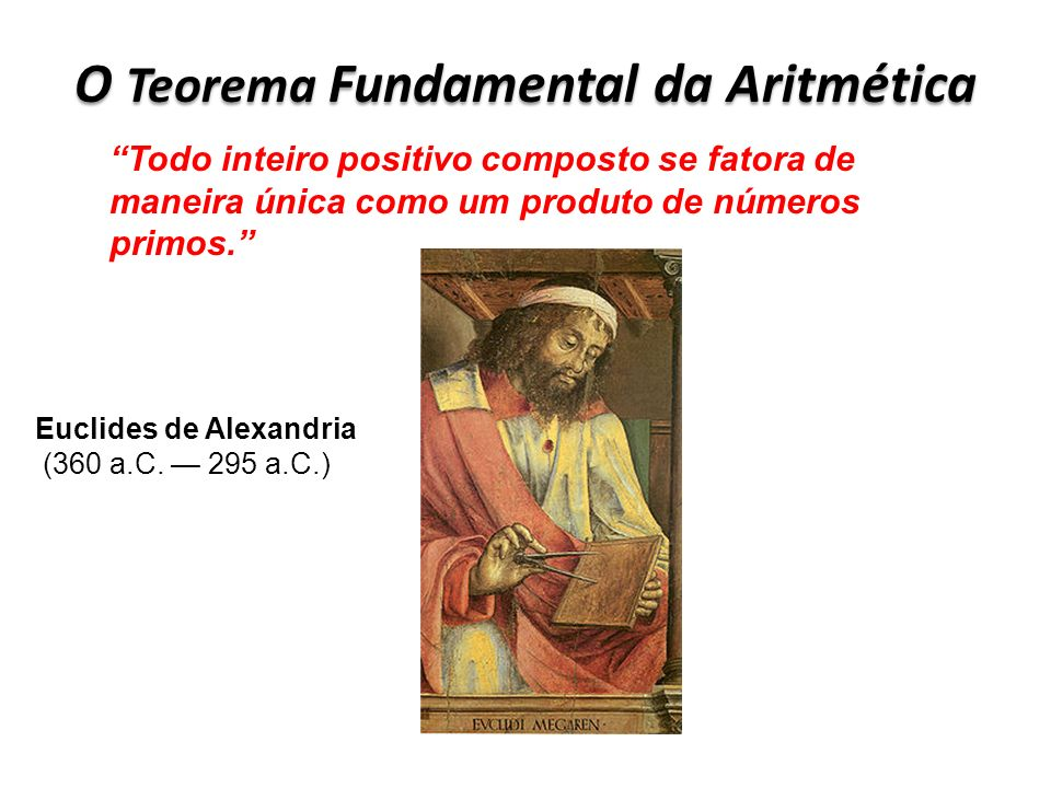 O Teorema Fundamental da Aritmética