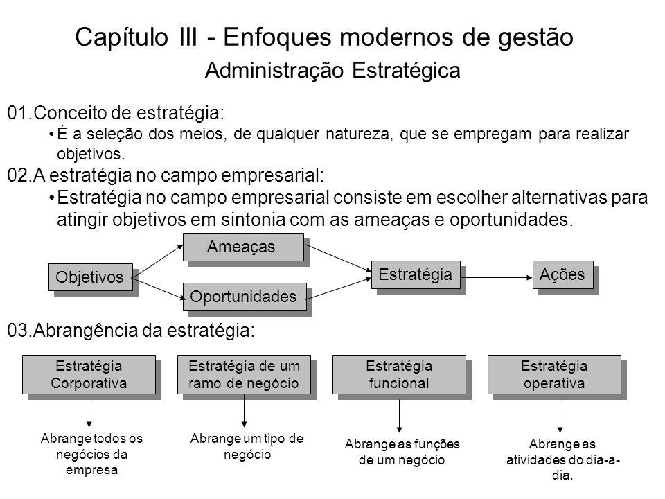 Capítulo III - Enfoques modernos de gestão