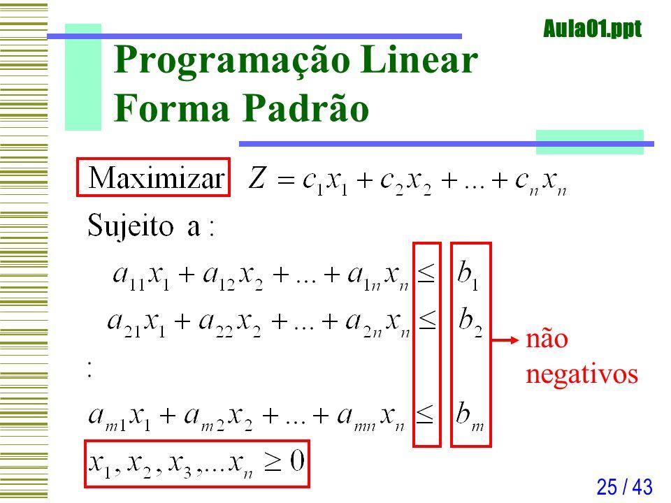 Programação Linear Forma Padrão
