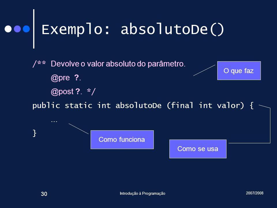 Exemplo: absolutoDe()