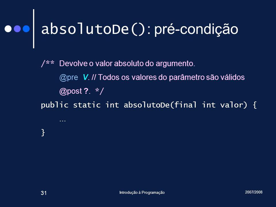 absolutoDe(): pré-condição