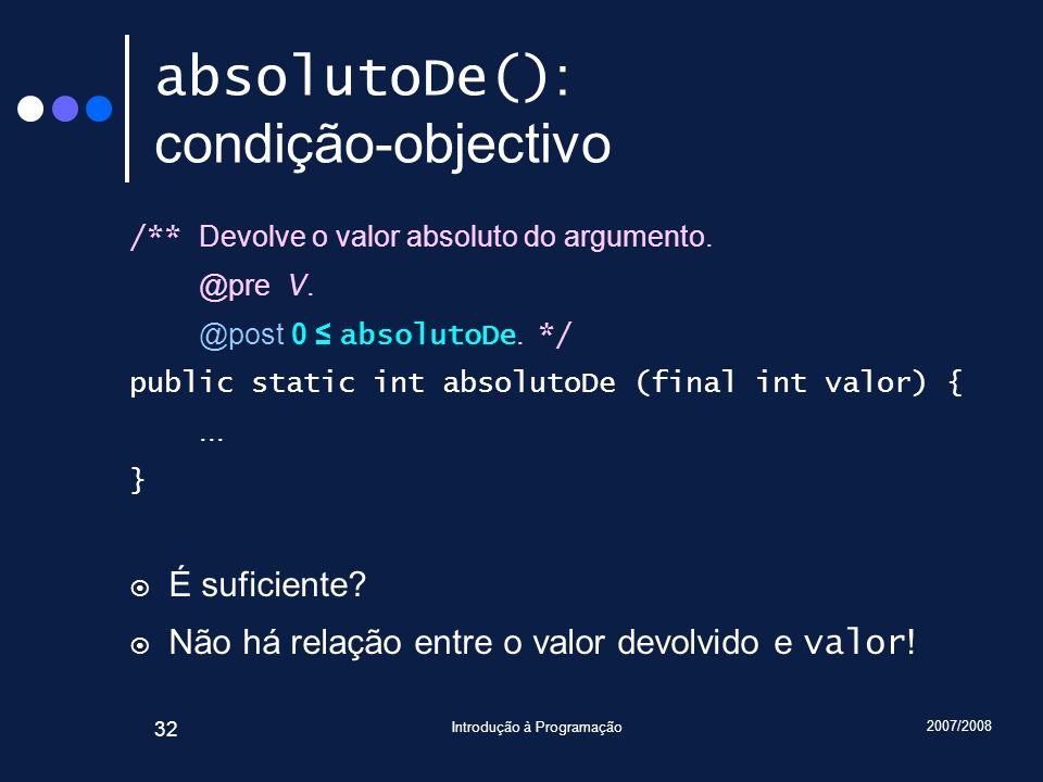 absolutoDe(): condição-objectivo