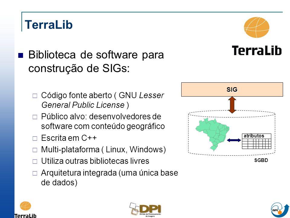 TerraLib Biblioteca de software para construção de SIGs: