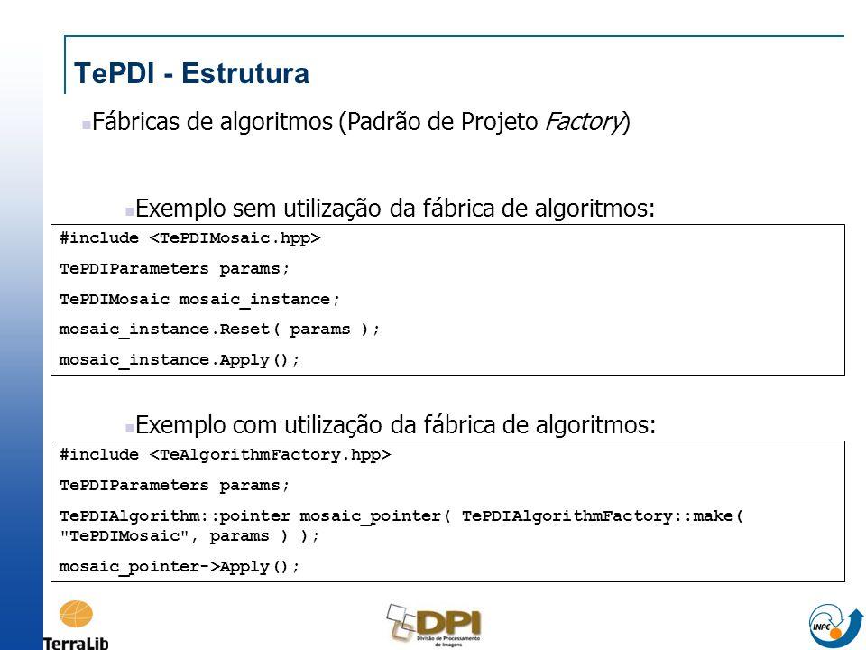 TePDI - Estrutura Fábricas de algoritmos (Padrão de Projeto Factory)