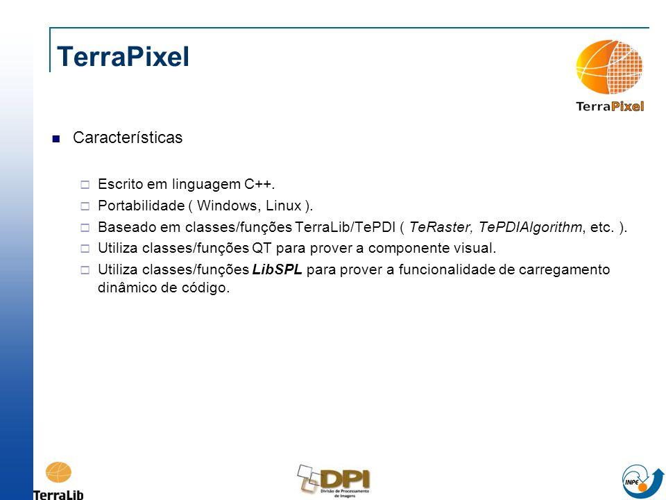 TerraPixel Características Escrito em linguagem C++.