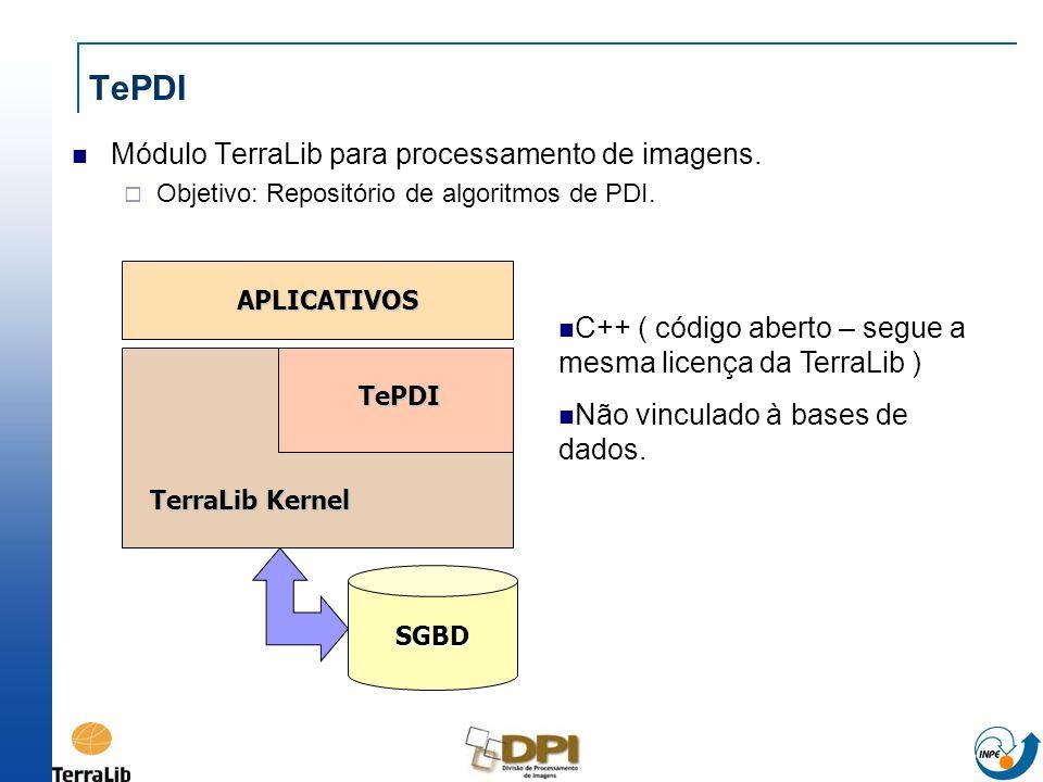 TePDI Módulo TerraLib para processamento de imagens.