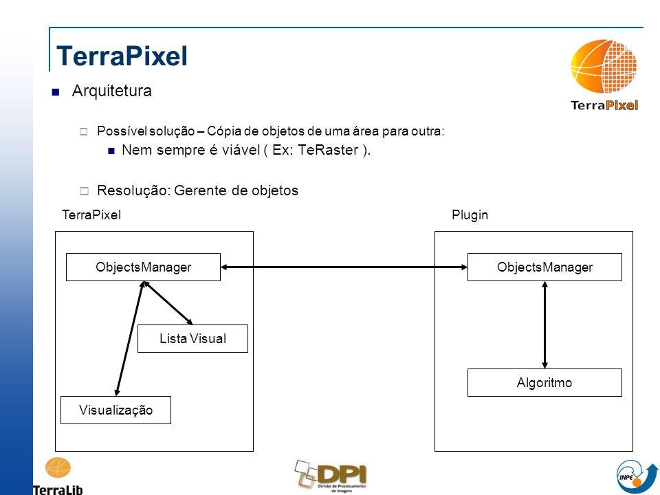 TerraPixel Arquitetura Nem sempre é viável ( Ex: TeRaster ).