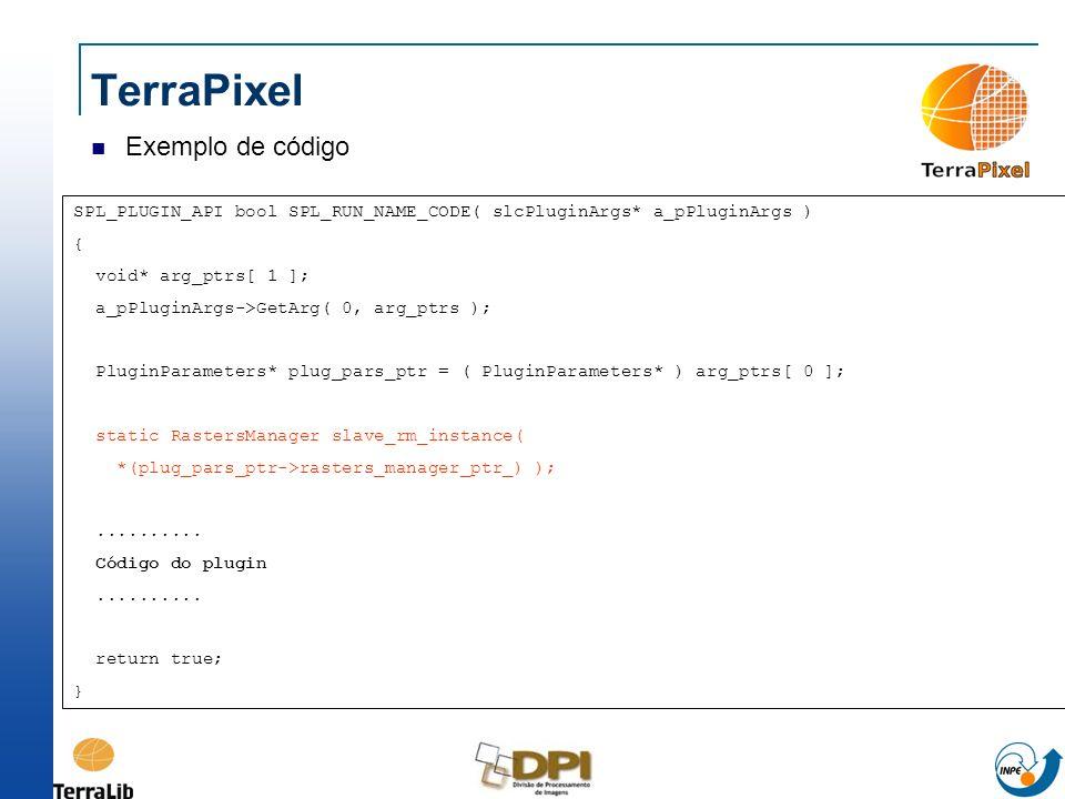 TerraPixel Exemplo de código