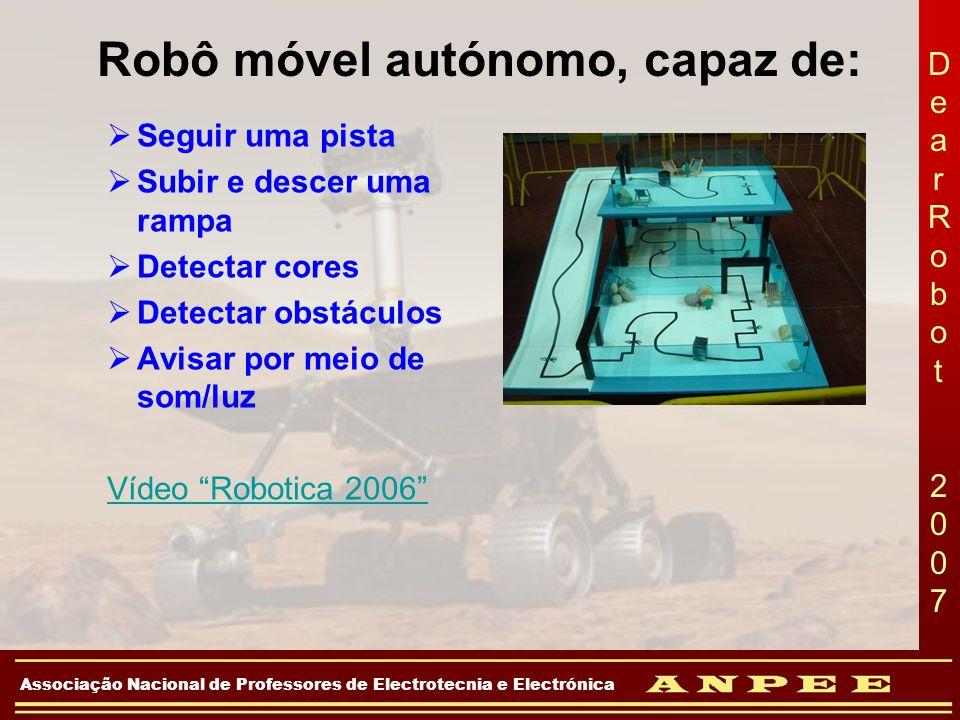 Robô móvel autónomo, capaz de: