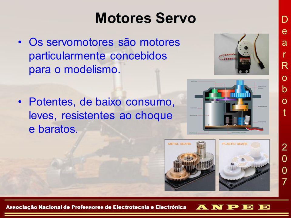 Motores Servo Os servomotores são motores particularmente concebidos para o modelismo.