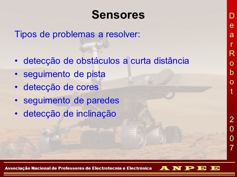 Sensores Tipos de problemas a resolver: