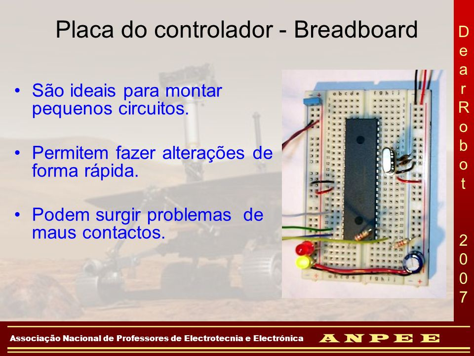 Placa do controlador - Breadboard