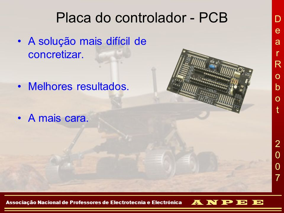 Placa do controlador - PCB
