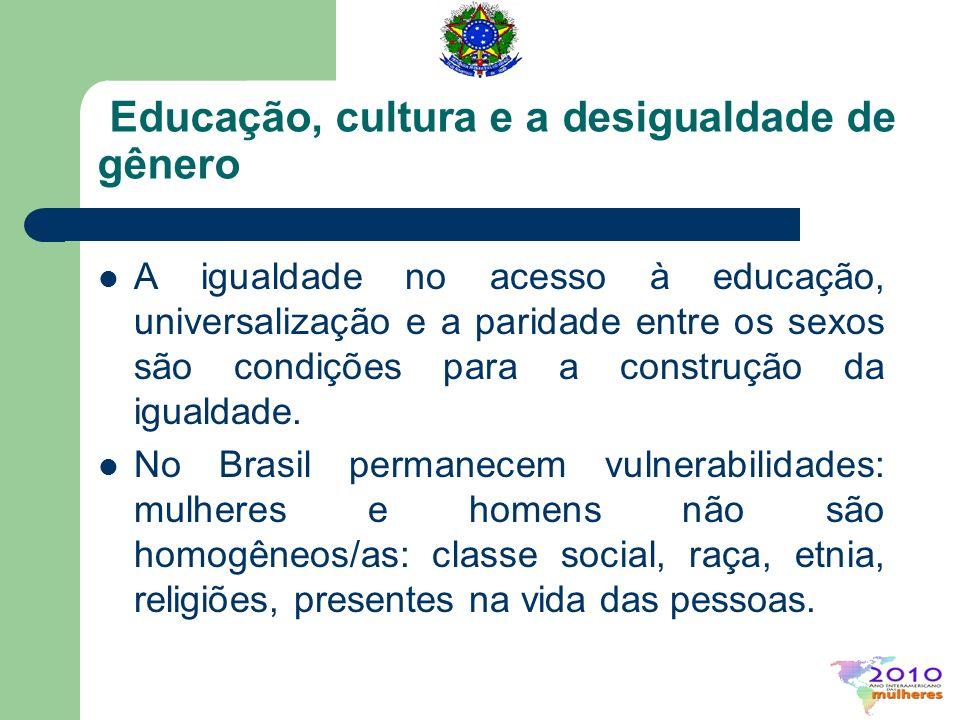 Educação, cultura e a desigualdade de gênero