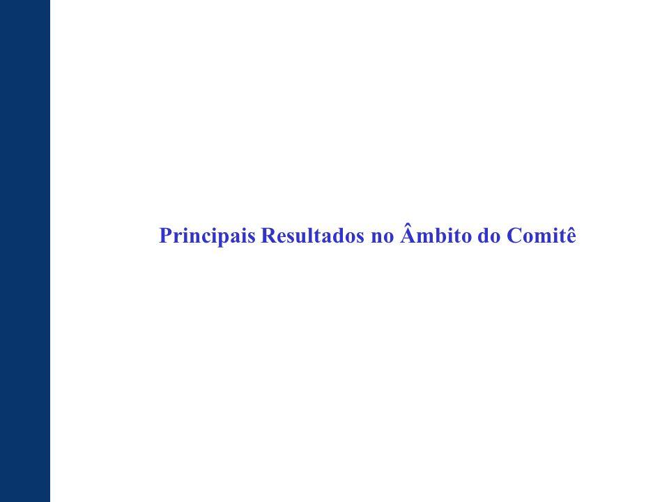 Principais Resultados no Âmbito do Comitê