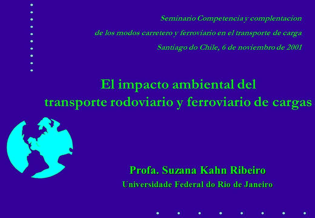 El impacto ambiental del transporte rodoviario y ferroviario de cargas