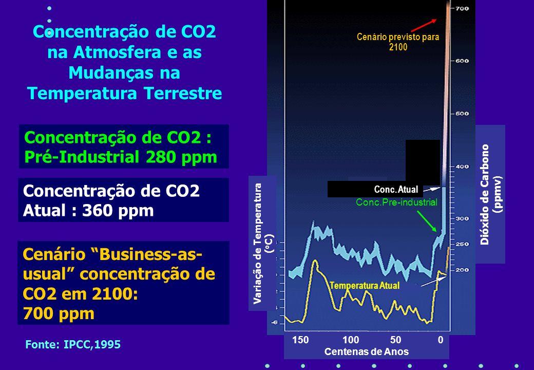 Variação de Temperatura (oC) Dióxido de Carbono (ppmv)