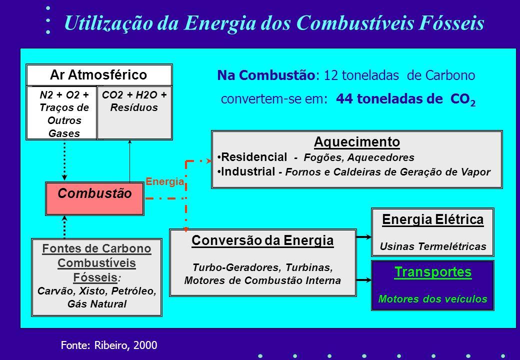 Utilização da Energia dos Combustíveis Fósseis