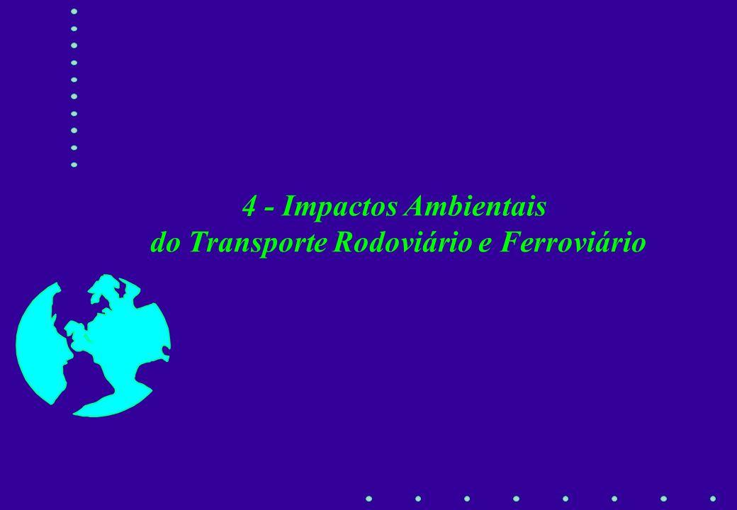 4 - Impactos Ambientais do Transporte Rodoviário e Ferroviário
