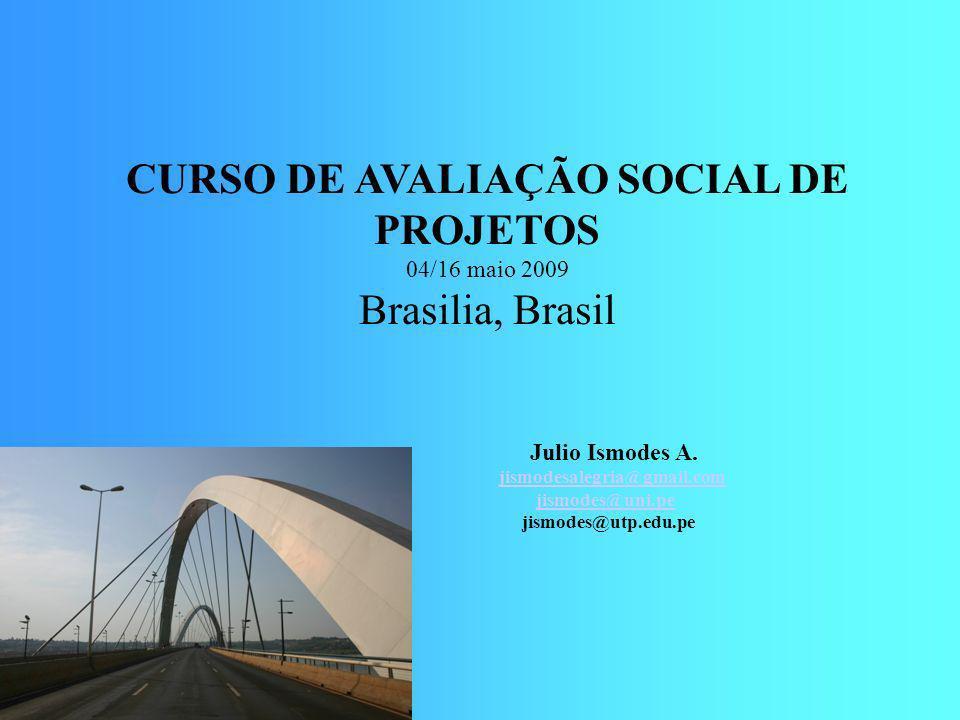 CURSO DE AVALIAÇÃO SOCIAL DE