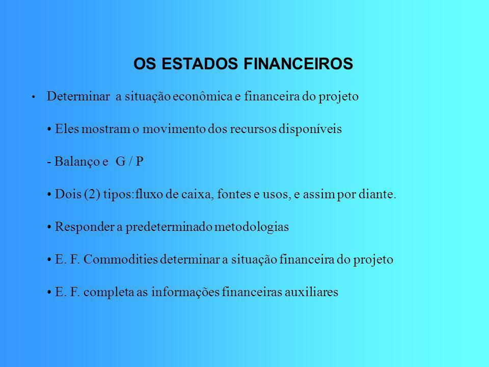 OS ESTADOS FINANCEIROS