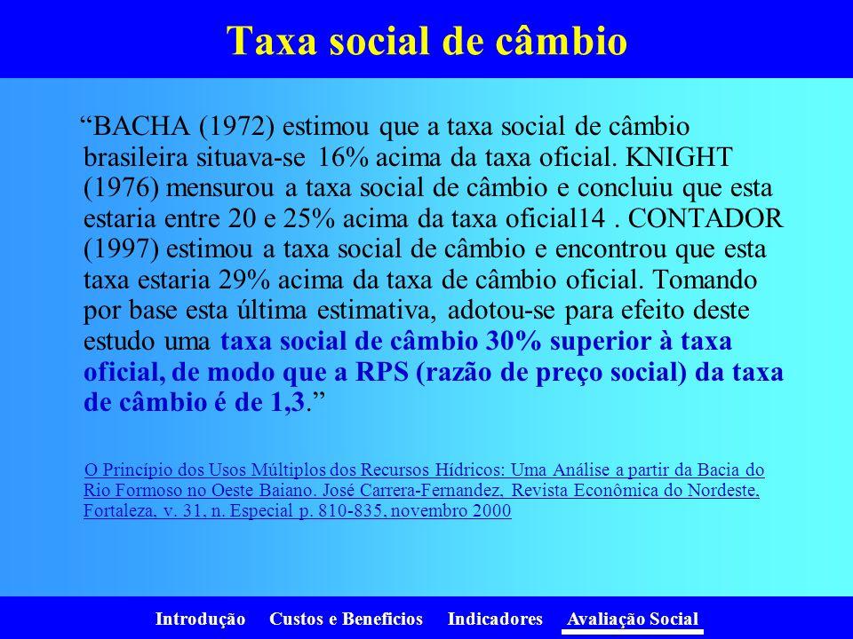 Taxa social de câmbio