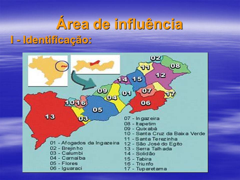 Área de influência I - Identificação: