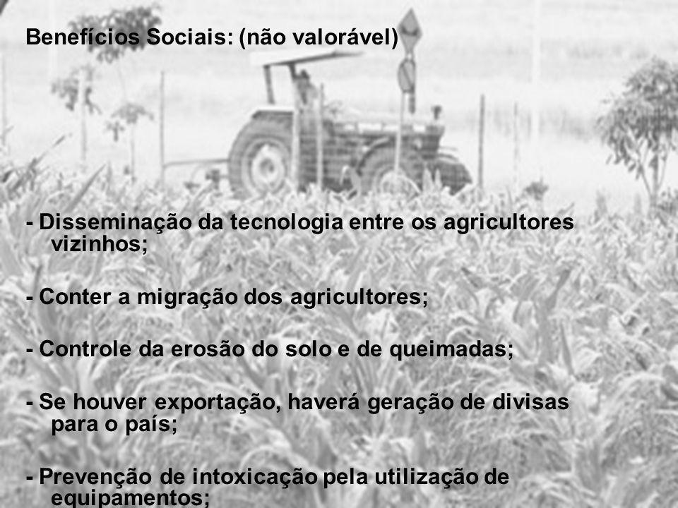 Benefícios Sociais: (não valorável)