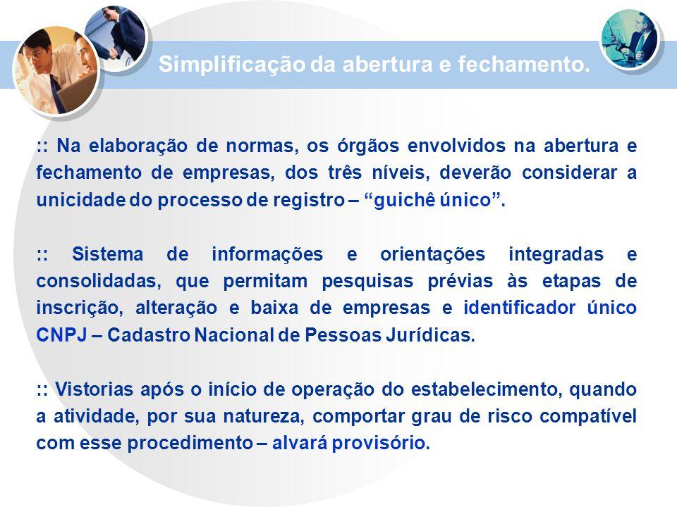 Simplificação da abertura e fechamento.