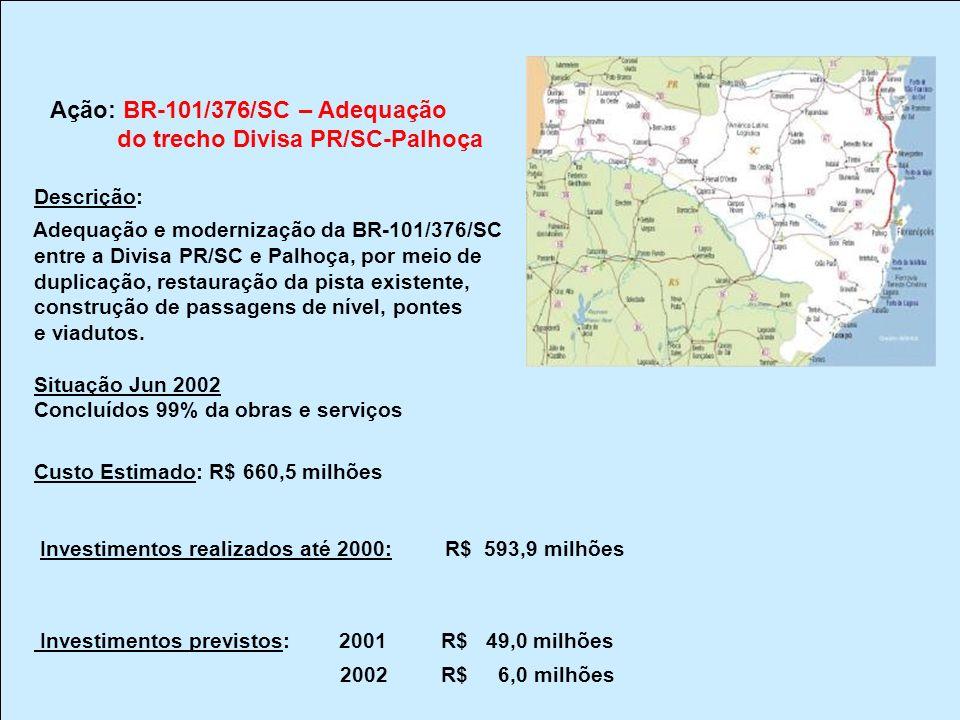do trecho Divisa PR/SC-Palhoça