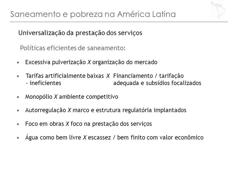Saneamento e pobreza na América Latina