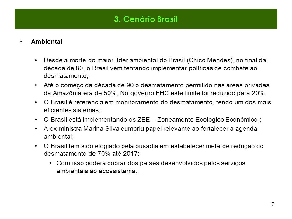 3. Cenário Brasil Ambiental