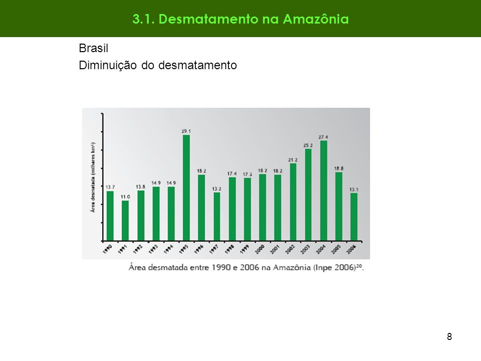 3.1. Desmatamento na Amazônia