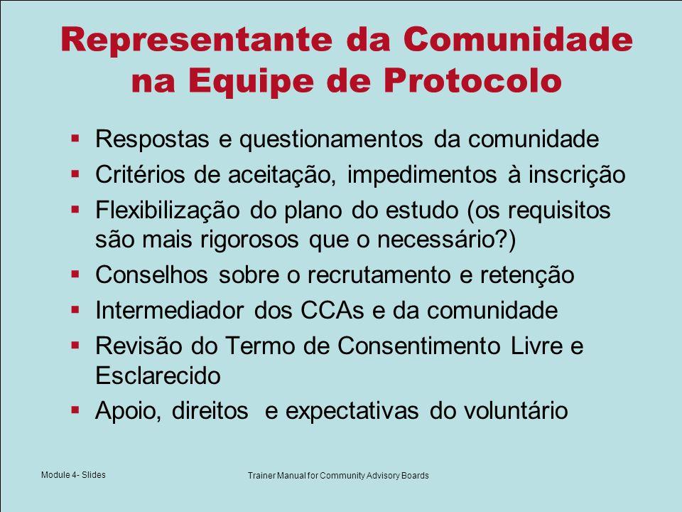 Tabela do Conteúdo do Protocolo