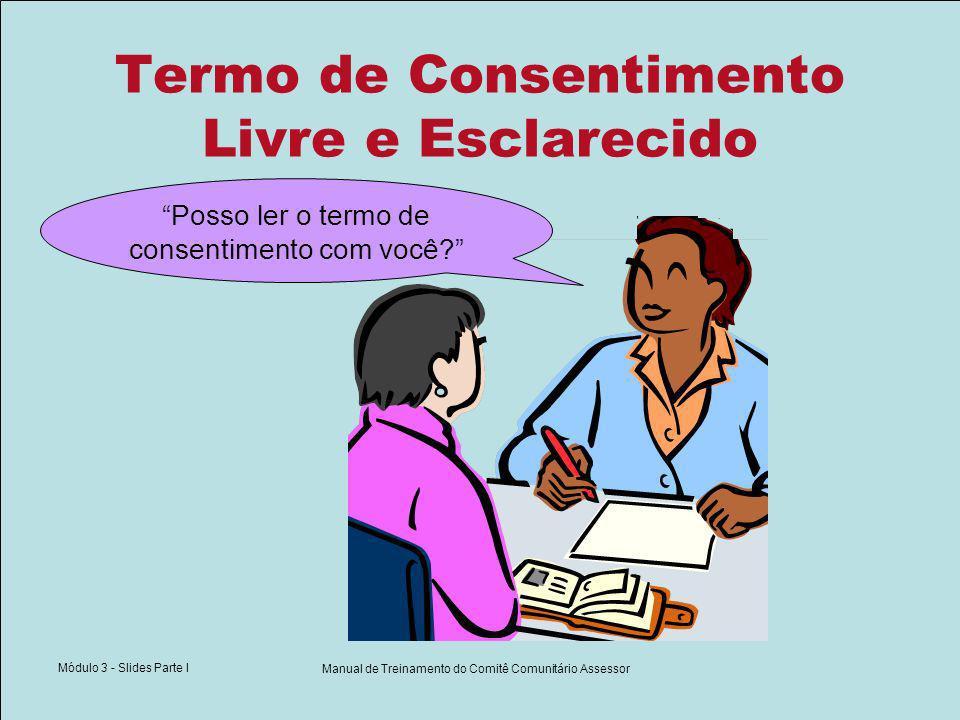Elementos do Consentimento Livre e Esclarecido