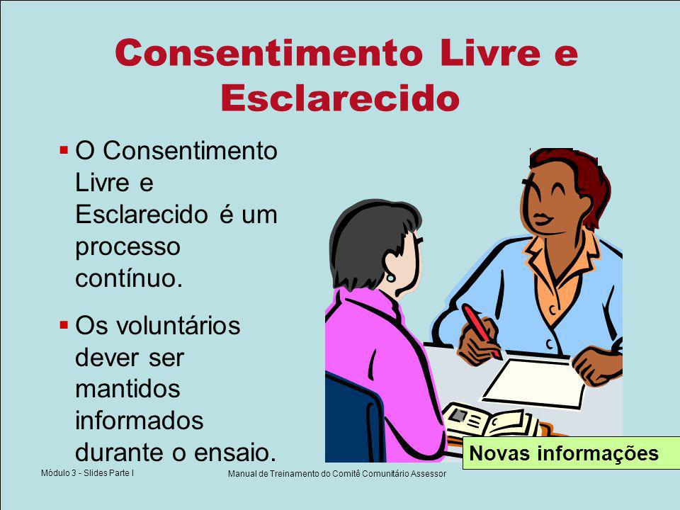 Elementos do Termo de Consentimento Livre e Esclarecido