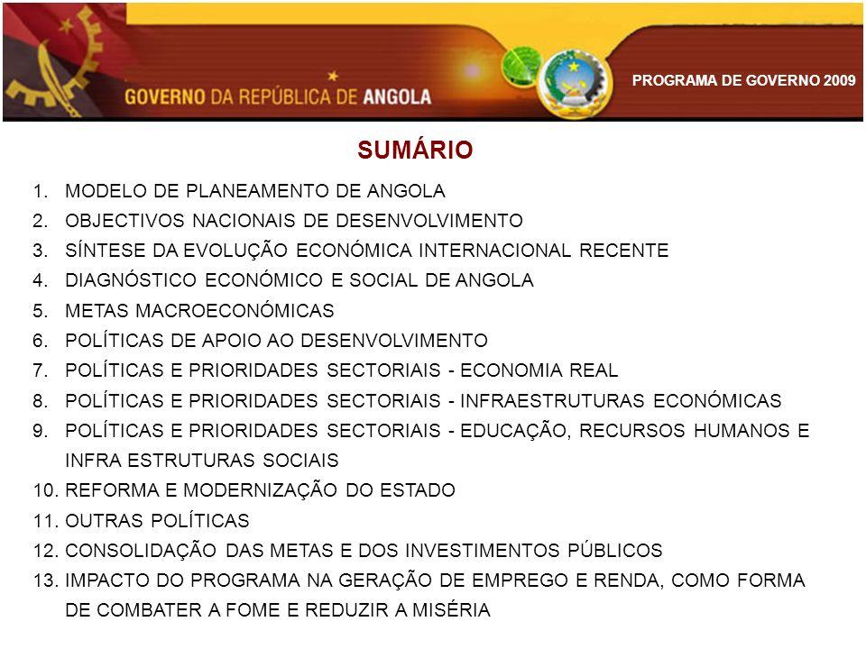 SUMÁRIO MODELO DE PLANEAMENTO DE ANGOLA