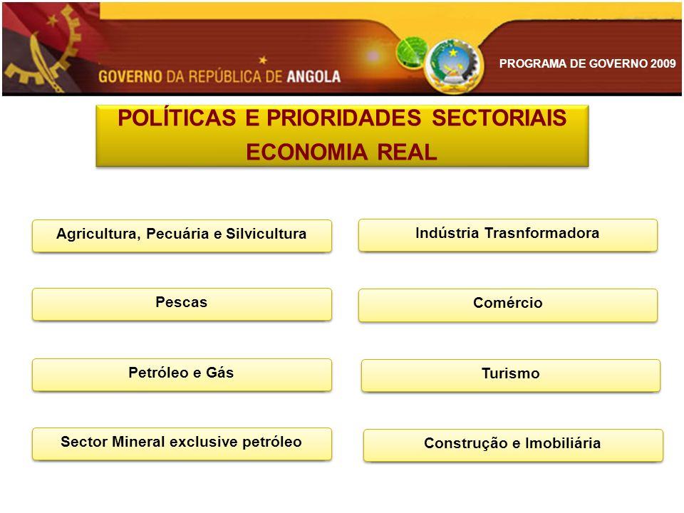 POLÍTICAS E PRIORIDADES SECTORIAIS