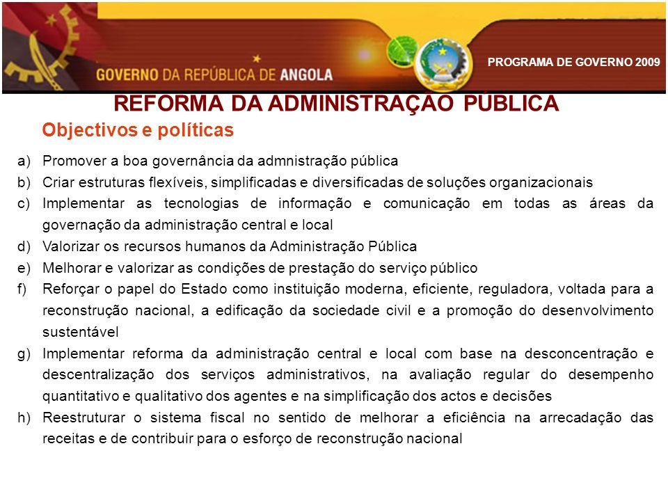 REFORMA DA ADMINISTRAÇÃO PÚBLICA