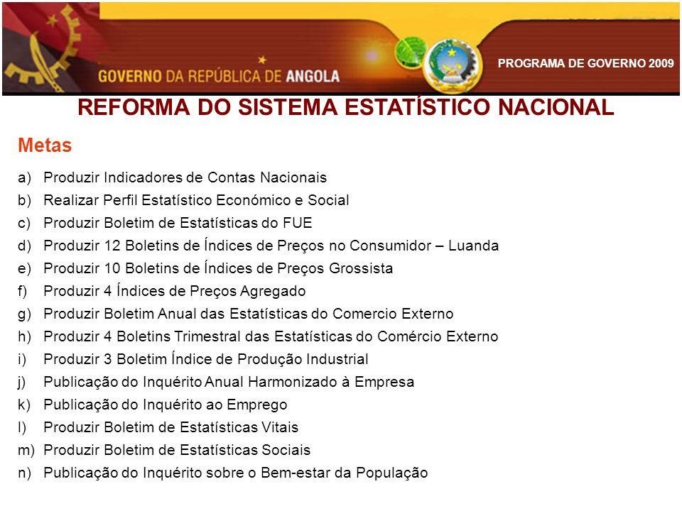 REFORMA DO SISTEMA ESTATÍSTICO NACIONAL