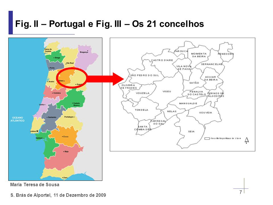 Fig. II – Portugal e Fig. III – Os 21 concelhos