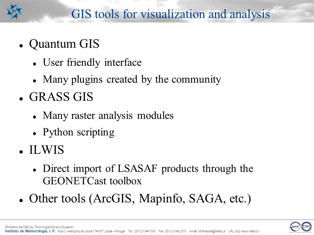 GIS tools for visualization and analysis