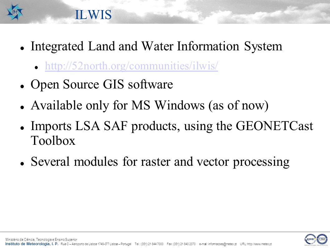 Integrated Land and Water Information System Open Source GIS software