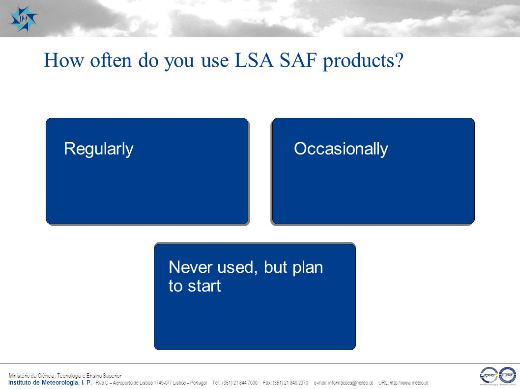 How often do you use LSA SAF products