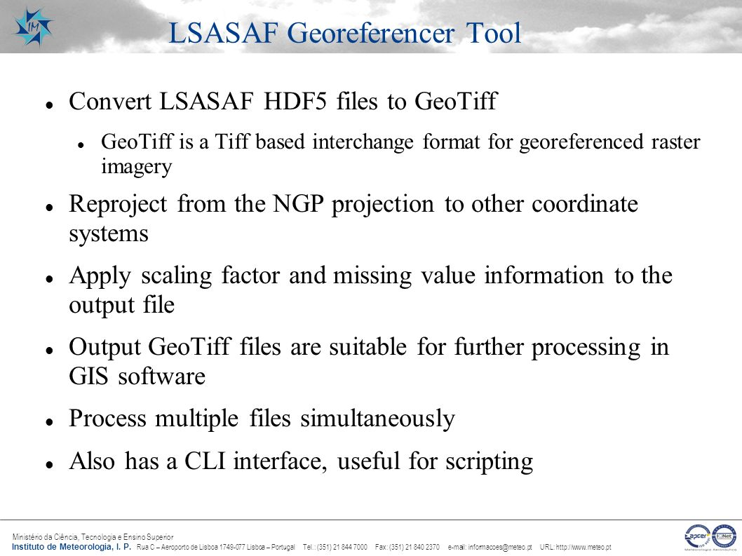 LSASAF Georeferencer Tool