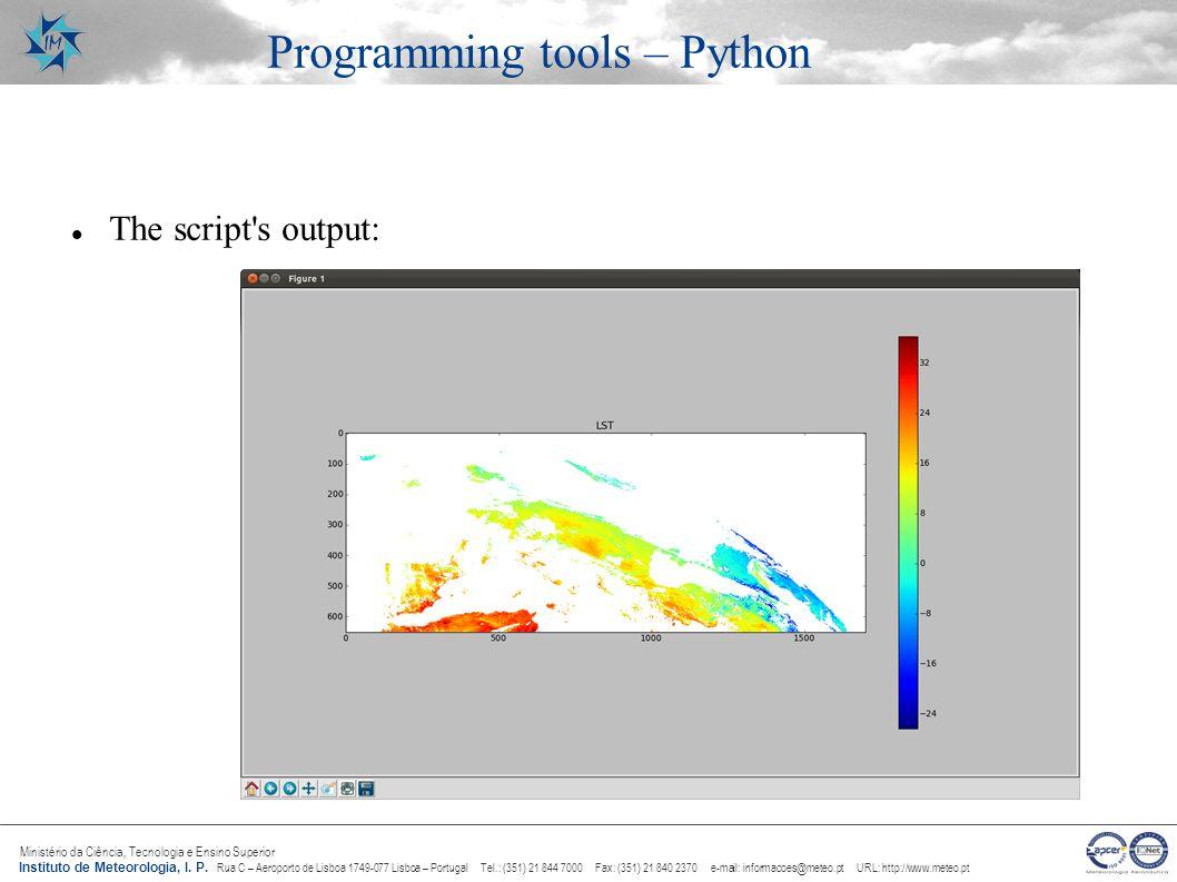 Programming tools – Python