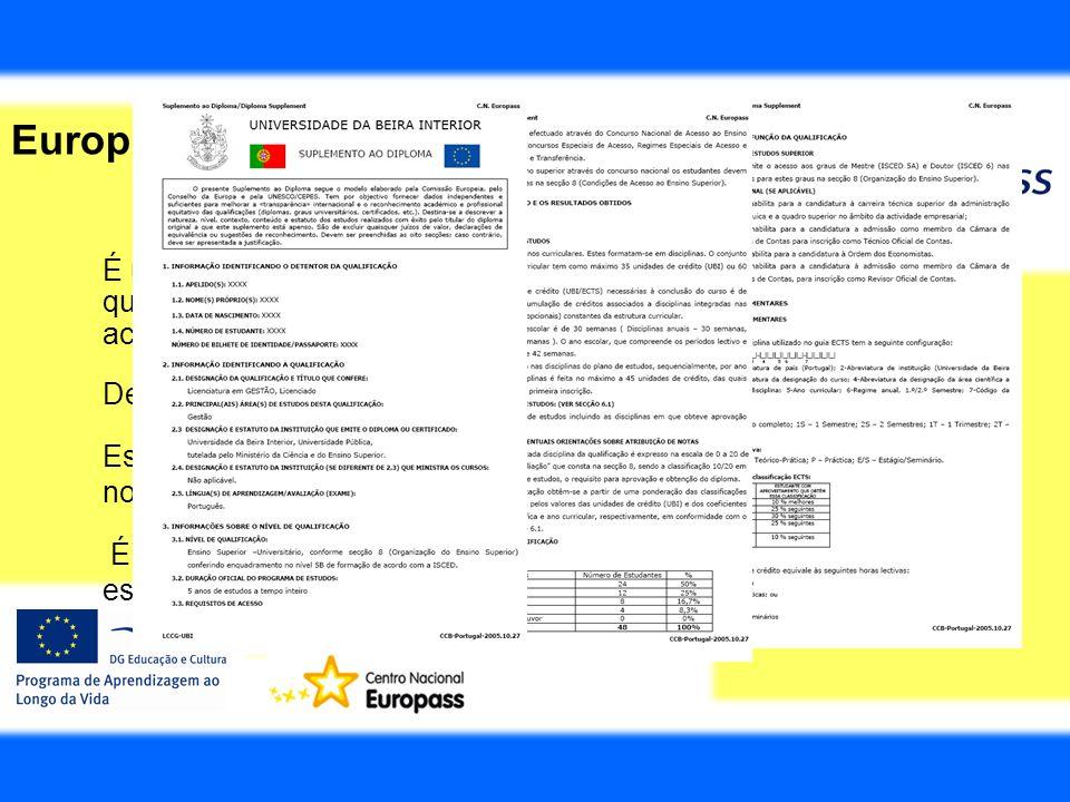 Europass Suplemento ao Diploma